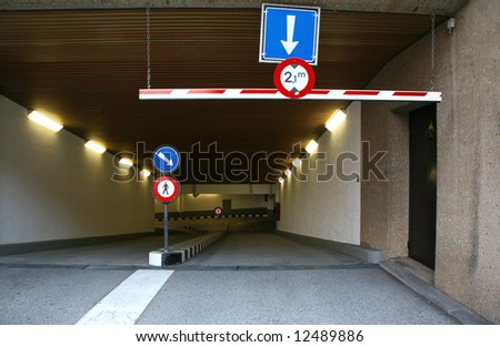 Entry parking - stock photo