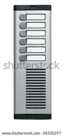 entry phone - stock photo
