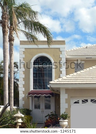 entryway to trendy upscale residence in resort location