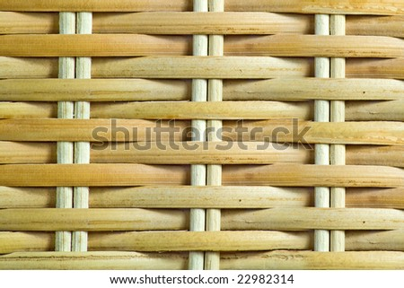 Entwined Bamboo Box Texture - stock photo