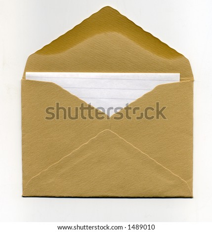 envelope about to be sent - stock photo