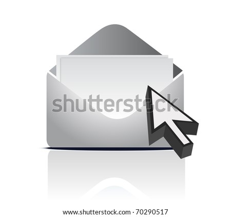 Envelope and arrow - stock photo