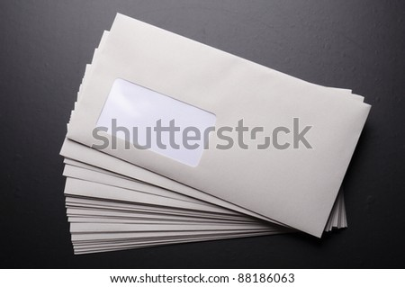 envelope and blank or empty copyspace for your text message - stock photo
