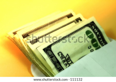Envelope and Cash With Color and Blur Effect