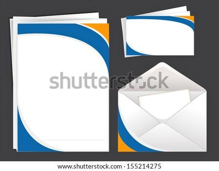 Envelope,blank,card. Rasterized illustration. Vector version in my portfolio - stock photo