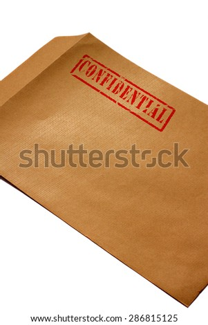 Envelope confidential