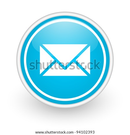 envelope icon - stock photo