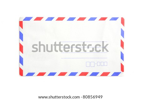 envelope isolated in white background