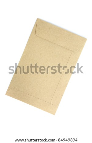 envelope isolated in white background - stock photo