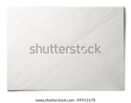 Envelope isolated on the white background