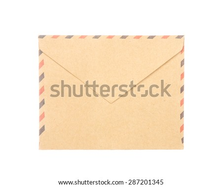 Envelope isolated on white background - stock photo