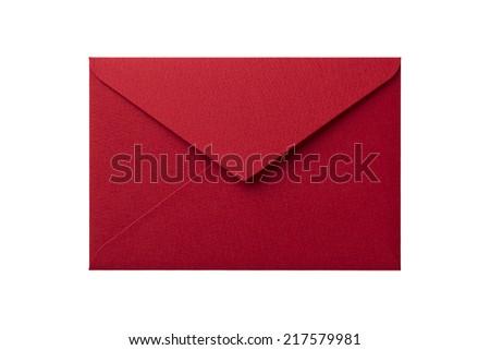 Envelope isolation on white background - stock photo