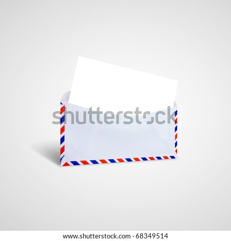 Envelope letter. with the Red and blue envelope edge. - stock photo