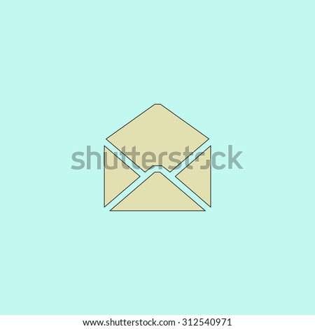 Envelope Mail. Flat simple line icon. Retro color modern illustration pictogram. Collection concept symbol for infographic project and logo - stock photo