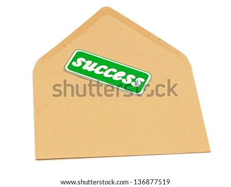 envelope mail message of success