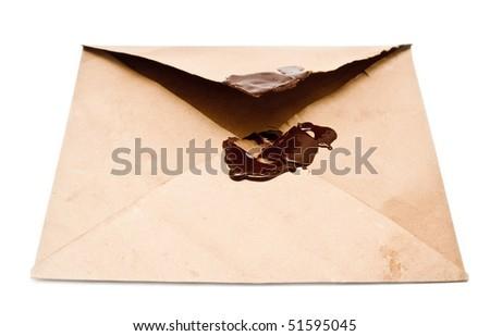 envelope on white background - stock photo
