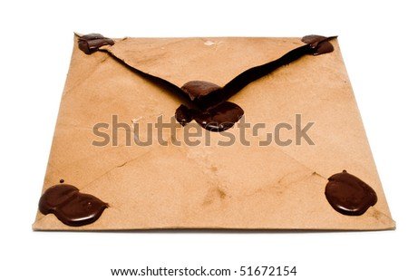 envelope on white background for your illustrations - stock photo