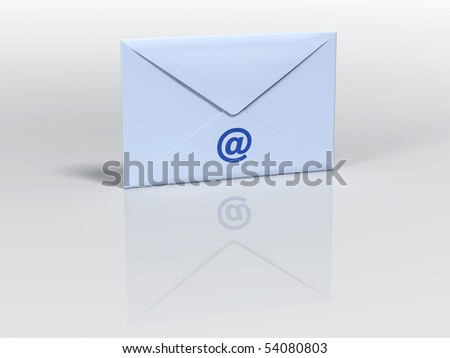 Envelope rendered in 3d imagery. - stock photo