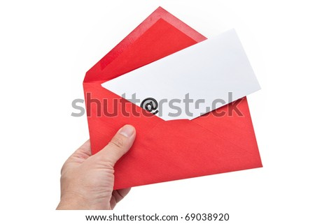 Envelope with at Symbol, concept of E-Mail
