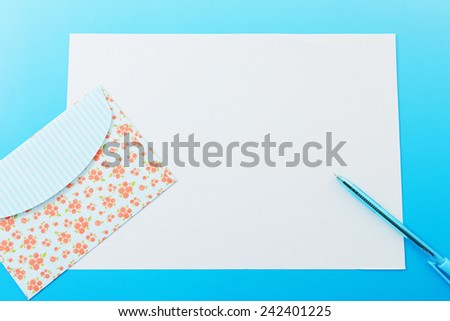 Envelope with blank letter  - stock photo