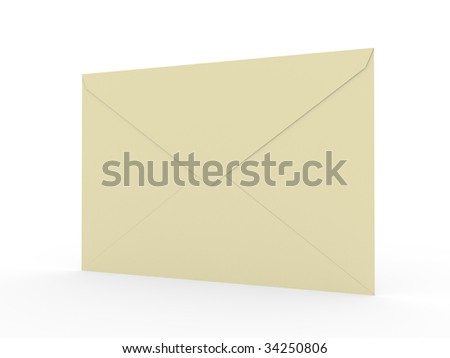envelope with shadow on the white