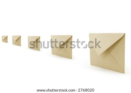 envelopes, concept of communication - stock photo