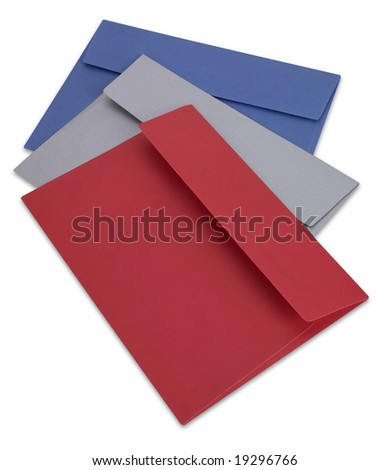 Envelopes with clipping path - stock photo