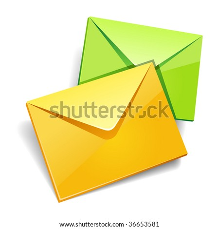 Envelops icon isolated.