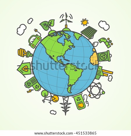Enviroment Concept. Save The Planet. illustration