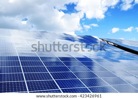 Environment background solar photovoltaic energy - stock photo