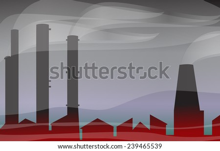 Environmental contamination - stock photo