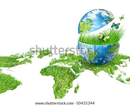 Environmental energy concept - stock photo