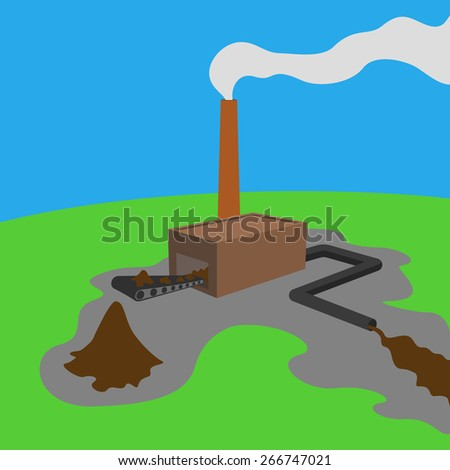 Environmental mess - stock photo