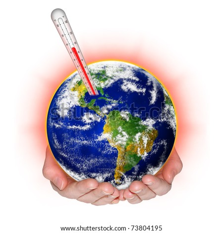 environmental protection against climate change concept - stock photo