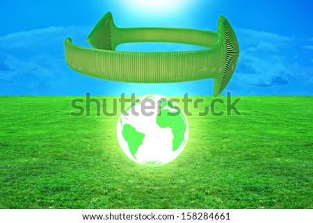 Environmental protection - 3d rendered illustration - stock photo
