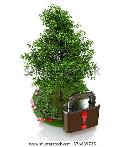 environmental protection, the design-related information with the world and nature - stock photo
