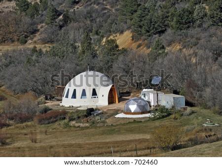 Environmentally friendly housing - stock photo