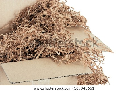 Environmentally Friendly Packing Material - stock photo