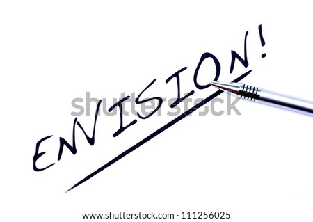 Envision on white background
