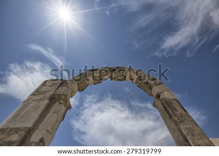 Ephesus Ancient Theatre - stock photo