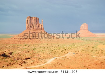Epic landscape of Monument Valley  - stock photo