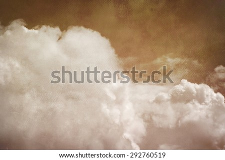 epic red sky with canvas texture  - stock photo