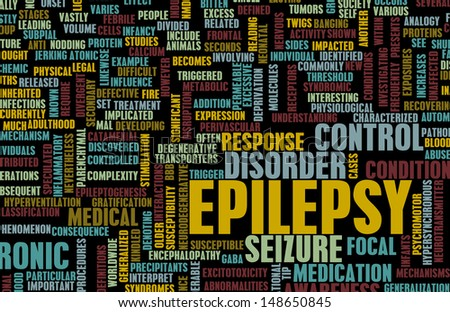 Epilepsy Concept and Epileptic Seizure as Disorder - stock photo