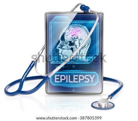 Epilepsy diagnosis - stock photo