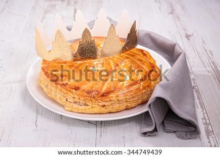 epiphany cake, galette des rois - stock photo