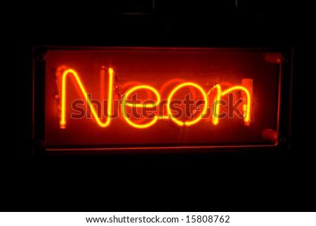 eponymous neon sign - stock photo