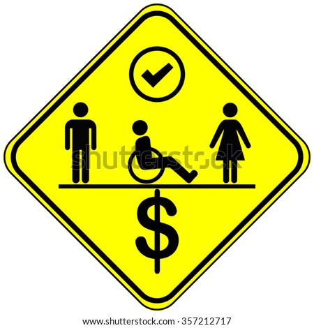 Equal Employment Opportunities Concept Sign Equal Stock Illustration