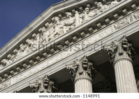 Equal Justice Under Law- supreme court - stock photo
