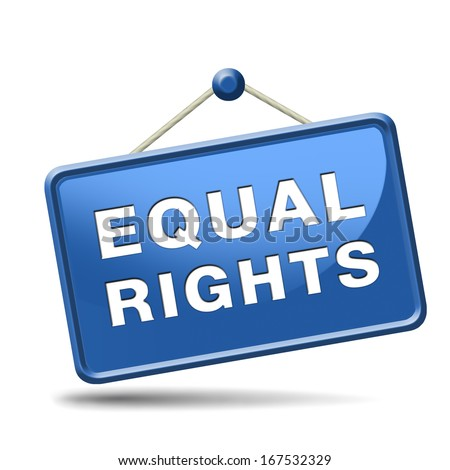 equal rights and opportunities for all women man disabled black and white solidarity discrimination of people with disability or physical and mental handicap - stock photo