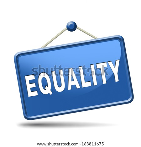 equality and solidarity equal rights and opportunities no discrimination - stock photo